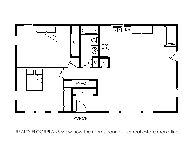 Realty floorplans home for sale central il for Floor plans real estate